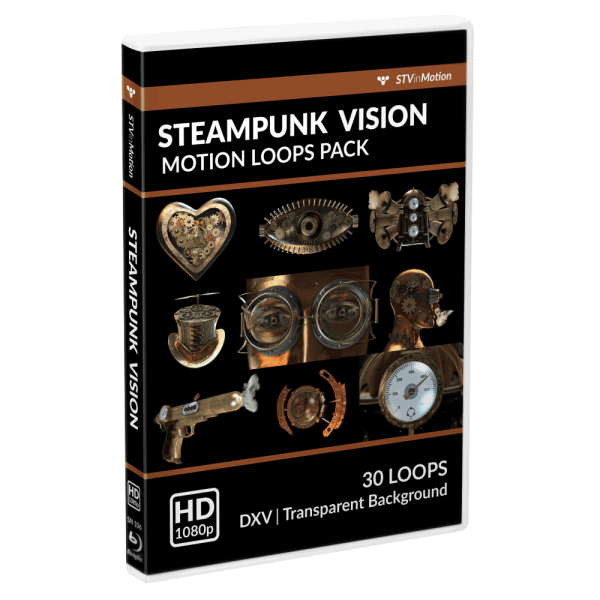 SteamPunk Vision VJ loops pack cover