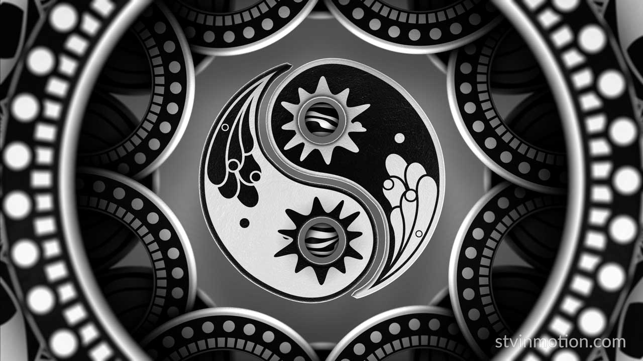 Black and white Yin Yang symbol
