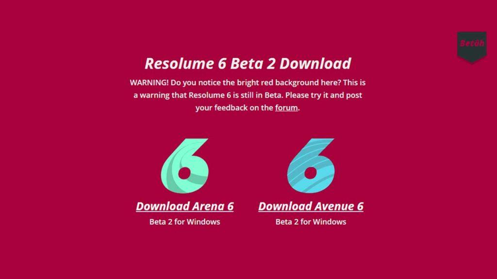 Resolume v6 Beta Released