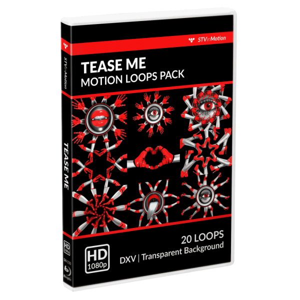 Tease Me VJ loops pack cover