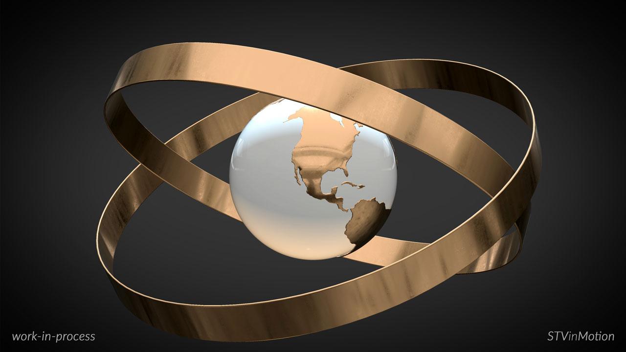 Making a 3D Armillary Sphere model