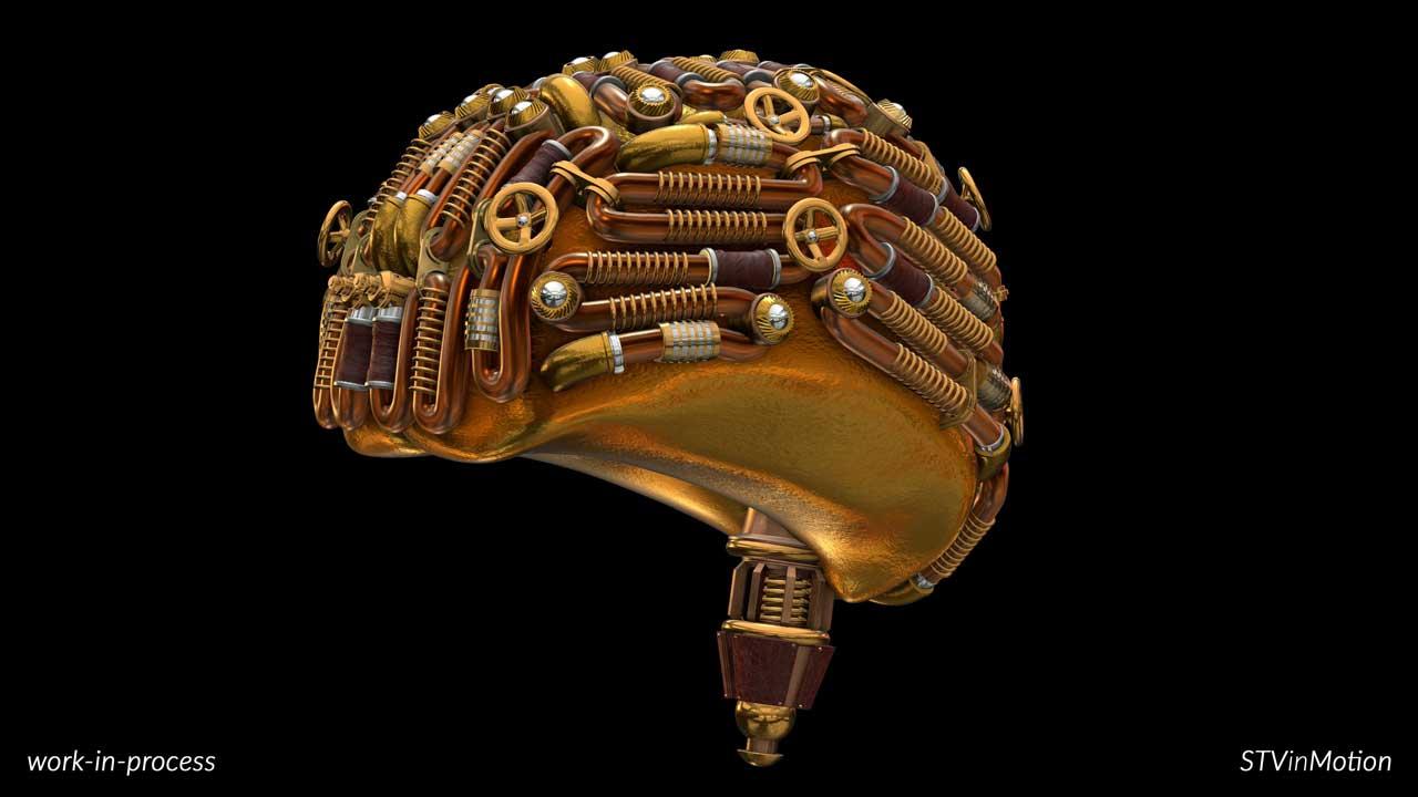 3D Steampunk Brain model