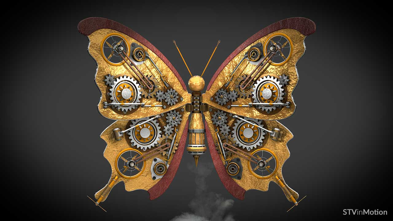 3D Steampunk Butterfly model
