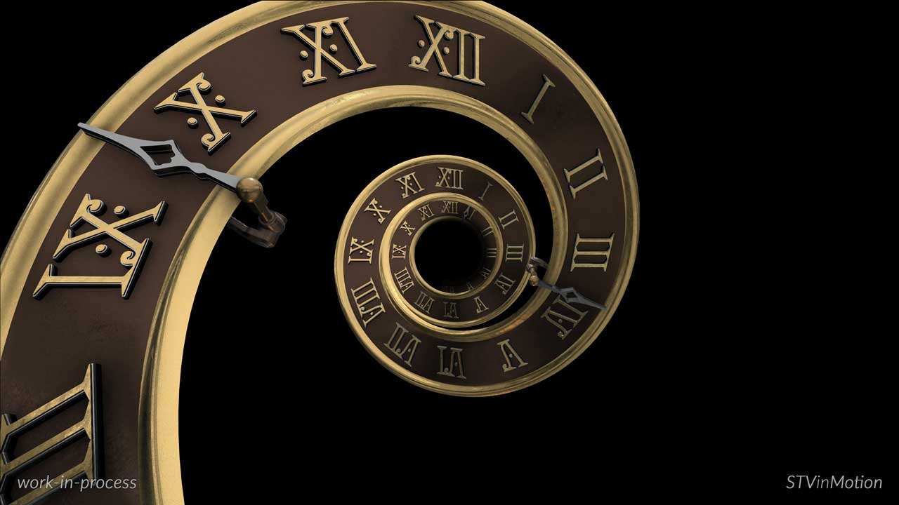 3D Infinity Clock model