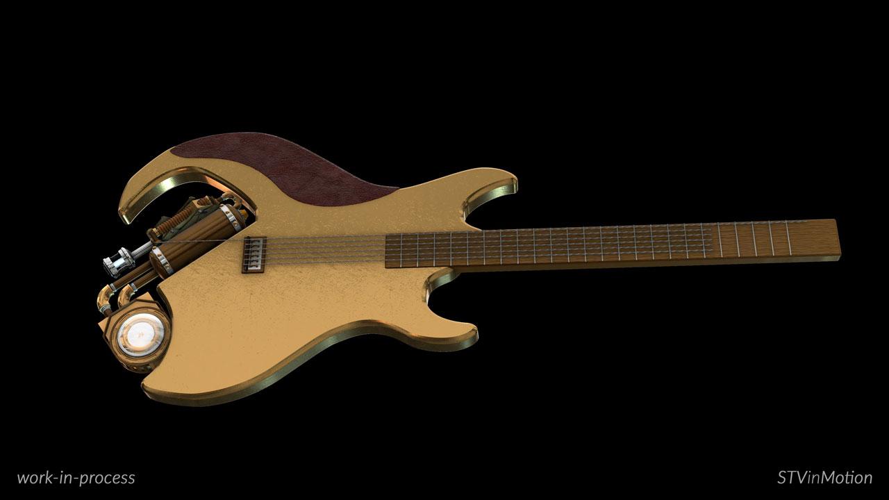 3d Guitar modeling