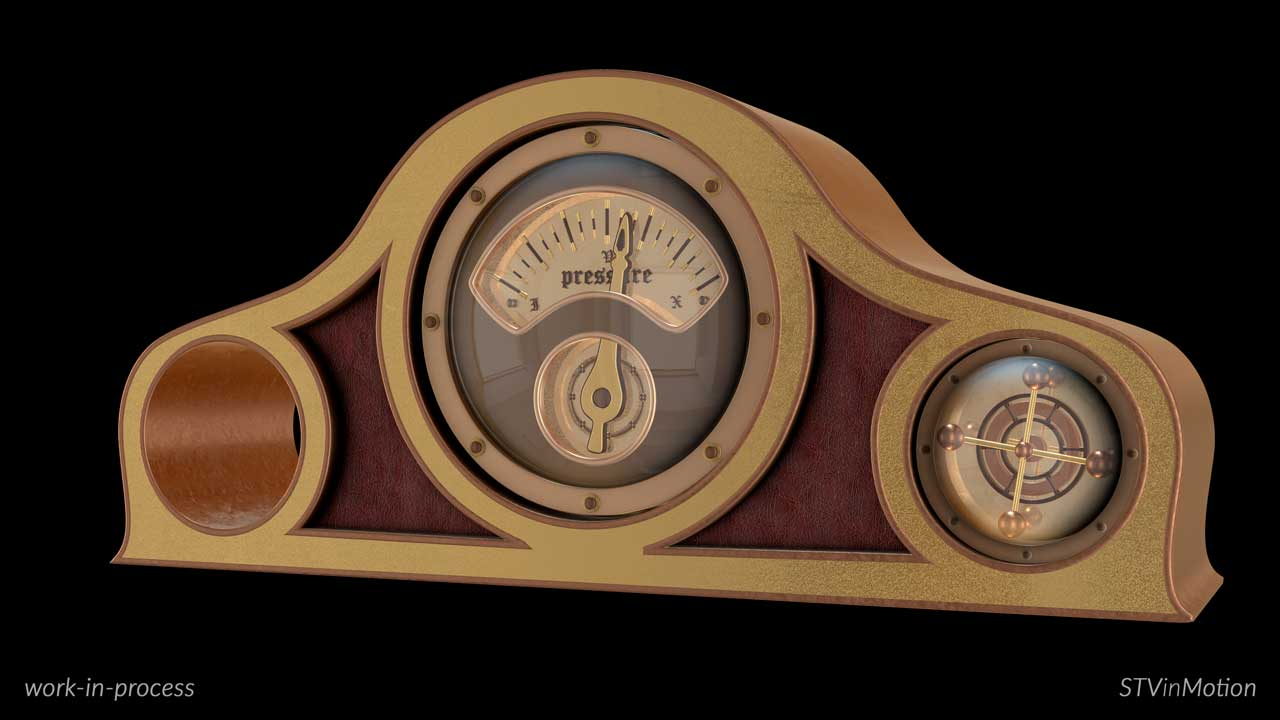 3D Mantel Clock model
