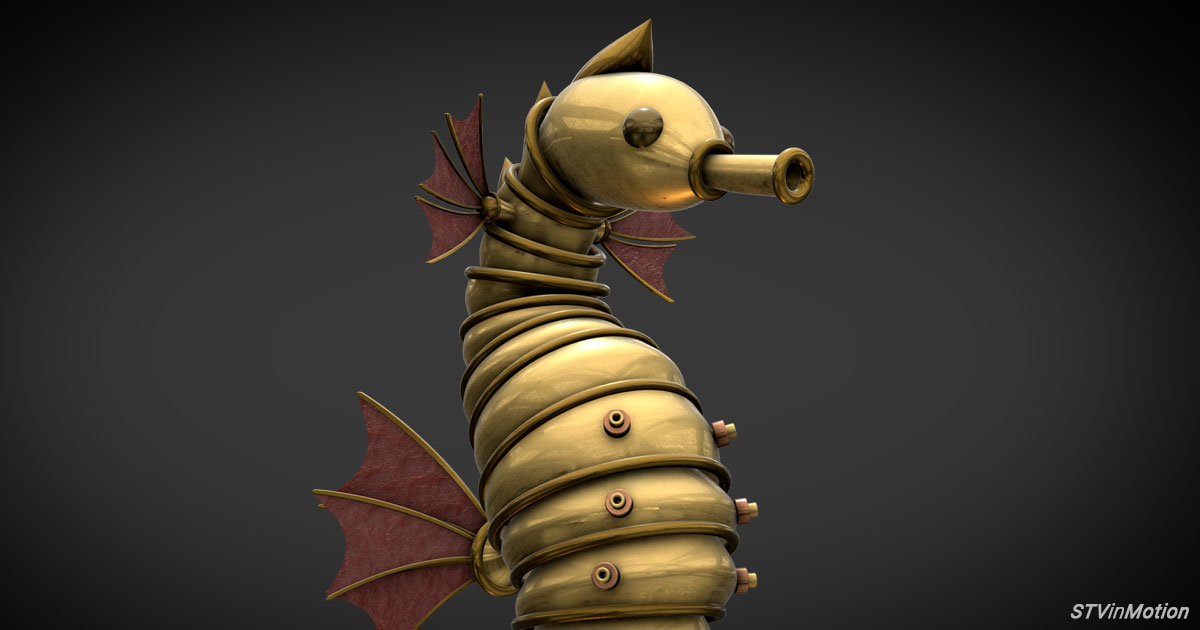 Seahorse Steampunk style