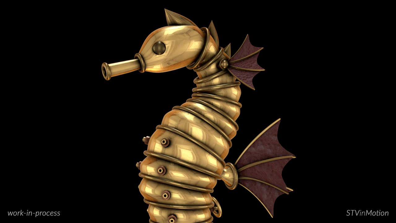 Steampunk Seahorse elements
