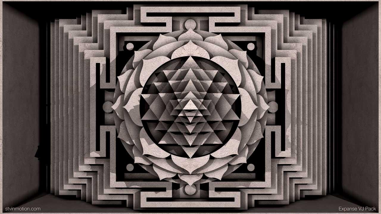 Shri Yantra stone carved
