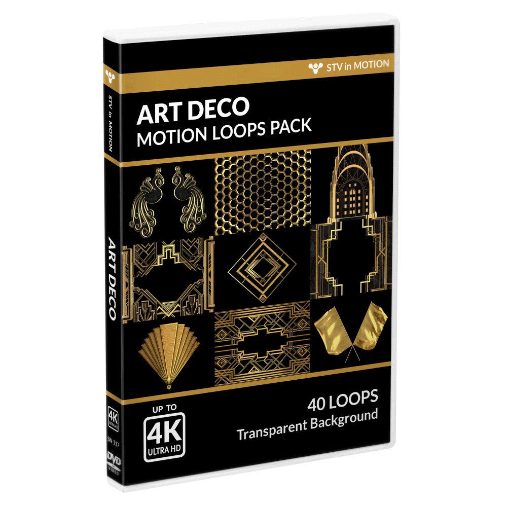 Art Deco VJ loops Pack