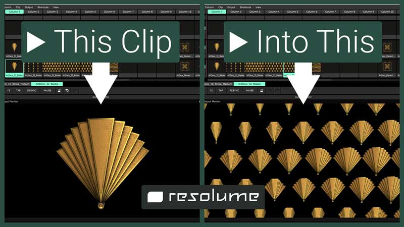 Art Deco Resolume tutorial